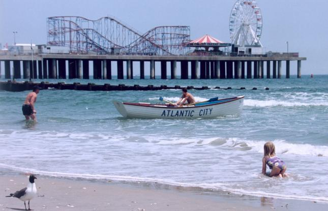 Atlantic City Beach Pier and Boardwalk